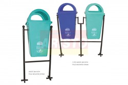 WASTE BINS DOME LID WITH STAND
