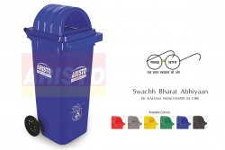 WHEEL WASTE BIN WITH DOME LID